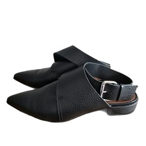 Lintervalle wrap around pointed toe mules